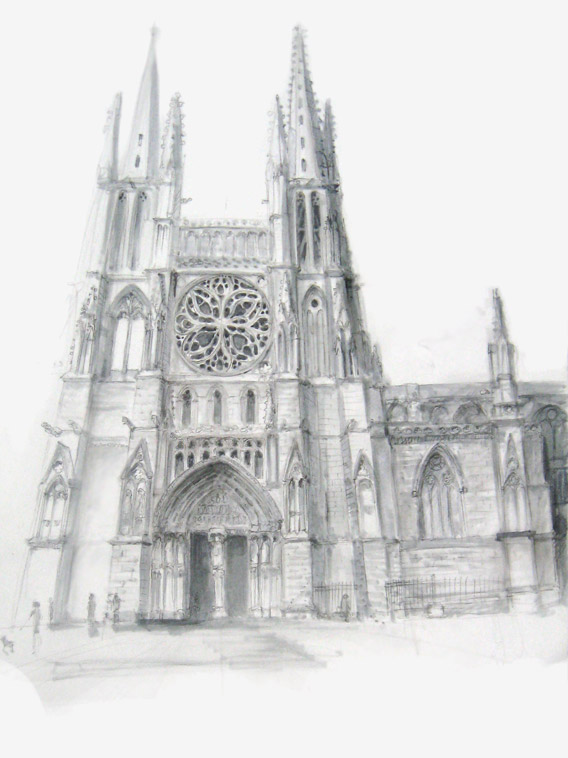 080510 Dessin Cathedrale Pey Berland