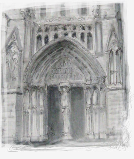 Sketching Cathedral