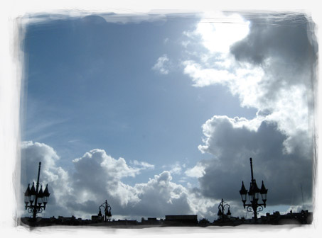 Bordeaux sky over the Pont de Pierre