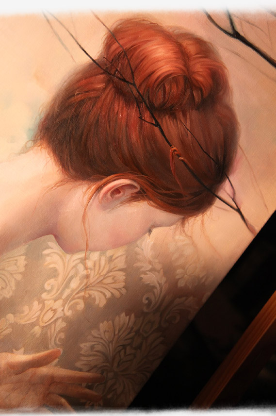 090914 Painting in progress - Kmye hair 2
