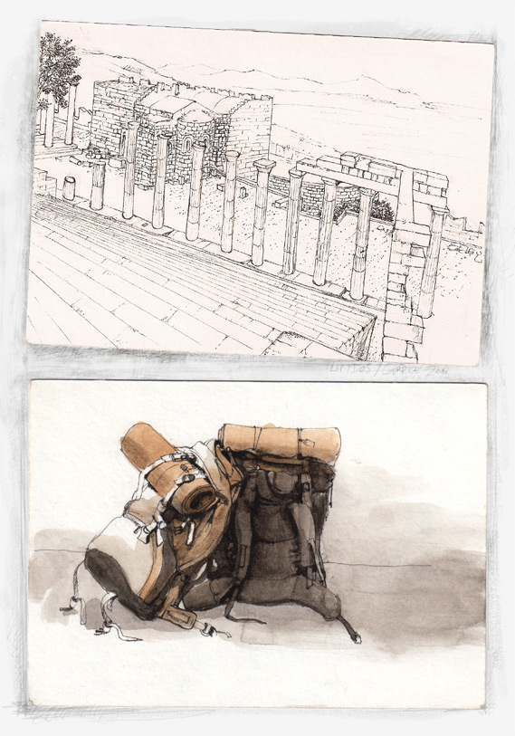 100830 Cartes Postales , drawings by Zancan